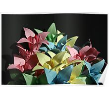 Origami Flowers #1-1 Poster
