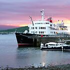 Oban sunset with ' Hebridean Princess !' by Roy  Massicks