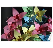 Origami Flowers #1-2 Poster