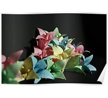 Origami Flowers #1-3 Poster