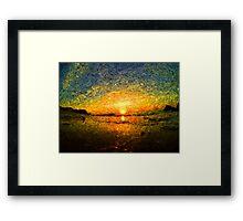 sunrise impressionism Framed Print