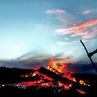 Summer Bonfire in Duluth by Dan Jesperson
