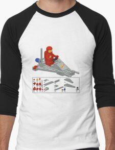 Lego Space Scooter (vector art) Men's Baseball ¾ T-Shirt