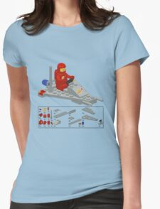 Lego Space Scooter (vector art) Womens Fitted T-Shirt