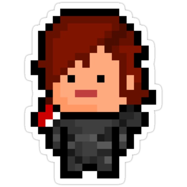 Pixel Commander Shepard (F) Sticker by PixelBlock