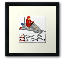 Lego Space Scooter (vector art) Framed Print