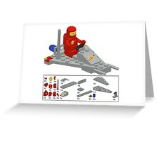Lego Space Scooter (vector art) Greeting Card