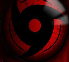 Mangekyo Sharingan iPad Case by squidkid