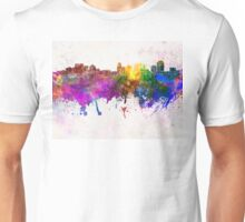 Salt Lake City skyline in watercolor background Unisex T-Shirt