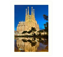 Sagrada Familia in Barcelona Art Print