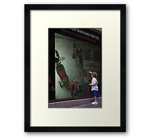 Toddler and Touch Screen Framed Print