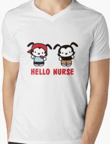 Hello Nurse Mens V-Neck T-Shirt