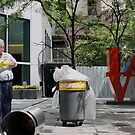LOVE sign, Midtown Manhattan by tomduggan