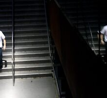Reflection on Stairs by tomduggan