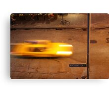 Taxi in West Village Canvas Print