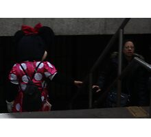 Minnie Mouse on the Subway Photographic Print