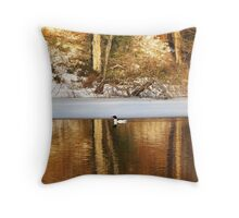 Early Morning Swim Throw Pillow