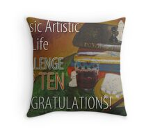 Classic Artistic Still Life Group: Top Ten Banner Throw Pillow