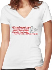 Red Rover Women's Fitted V-Neck T-Shirt