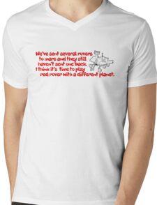 Red Rover Mens V-Neck T-Shirt