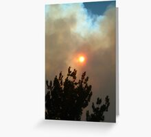 Smoke Filled Sky Greeting Card