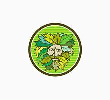 Green Man Foliate Head Circle Retro Unisex T-Shirt