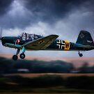 Messerschmitt BF108 Takeoff Under Dark Clouds by Chris Lord