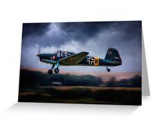 Messerschmitt BF108 Takeoff Under Dark Clouds Greeting Card