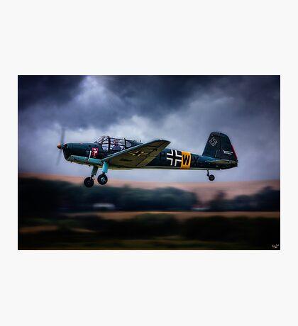 Messerschmitt BF108 Takeoff Under Dark Clouds Photographic Print