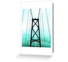 Lions's Gate Bridge Greeting Card