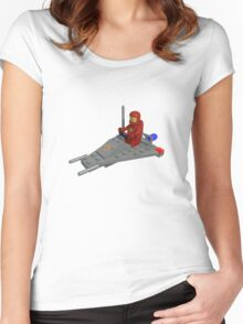 Lego Space Scooter (photo-realistic) Women's Fitted Scoop T-Shirt