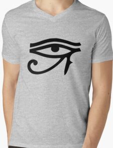 Eye of Horus (Black) Mens V-Neck T-Shirt