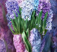 Hyacinths In Hyacinth Vase 1 by Carol  Cavalaris
