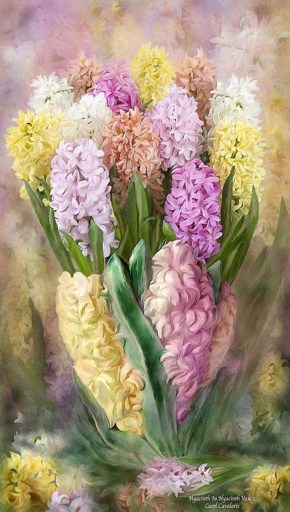 Hyacinths In Hyacinth Vase 2 by Carol  Cavalaris
