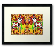 Exoplanet Aliens Having a Ball Framed Print