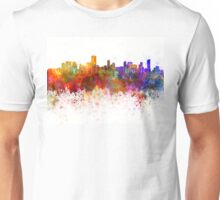 Salvador de Bahia skyline in watercolor background Unisex T-Shirt
