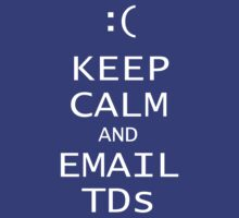 Keep Calm and Email TDs by bungeecow