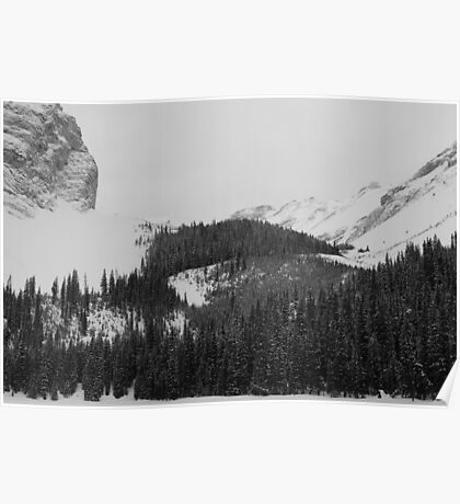 Rockies at Lilian Lake  Poster