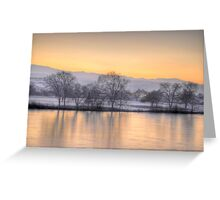 Golf course in Winter Greeting Card