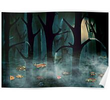 The Woods at Night Poster