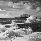 West Pier on a blustery day by jamesdt