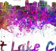 Salt Lake City skyline in watercolor Sticker