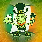 Green Leprechaun Drinking a Toast by Zoo-co
