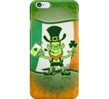 Green Leprechaun Drinking a Toast iPhone Case/Skin
