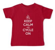 Keep Calm and Cycle On Baby Tee
