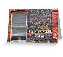 Brick Lane E1 - HDR Greeting Card