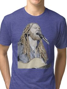 Newton Faulkner Drawing Tee (With a Splash of Colour!!) Tri-blend T-Shirt