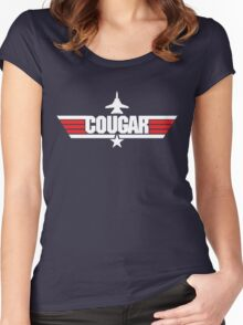 Custom Top Gun Style - Cougar Women's Fitted Scoop T-Shirt