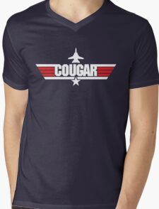 Custom Top Gun Style - Cougar Mens V-Neck T-Shirt