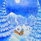 A little house in the snow by Wil Zender